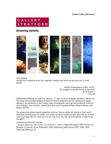 a compare and contrast of ophelia and portia essay drowning ophelia essay gallery stratford