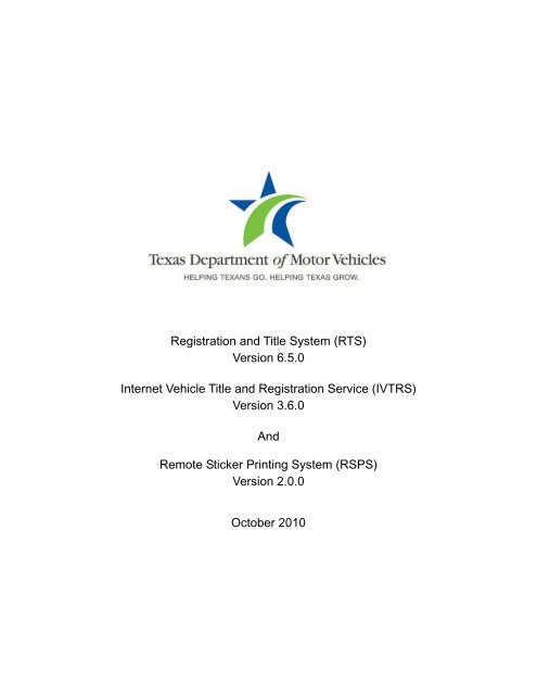 Permit No - the Texas Department of Motor Vehicles FTP Server