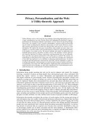Privacy, Personalization, and the Web - Microsoft Research
