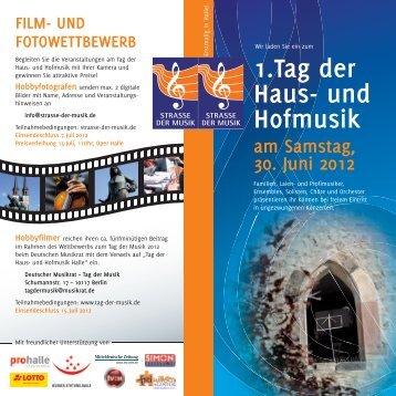 1.Tag der Haus- und Hofmusik am Samstag, 30. Juni 2012