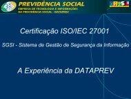 Certificação ISO/IEC 27001 - Dataprev