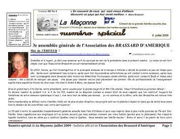 Vol.III #4 - Association des Brassard d'Amerique