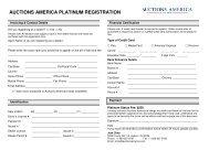 AUCTIONS AMERICA PLATINUM REGISTRATION