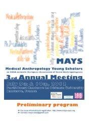 Preliminary program - Amades