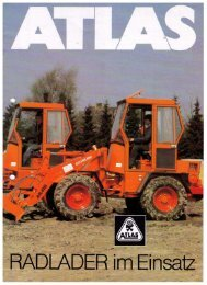Bildprospekt B-Serie - ATLAS Hydraulikbagger