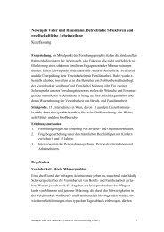 Nebenjob Vater und Hausmann. Betriebliche Strukturen und ...