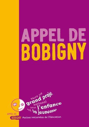 L'Appel de Bobigny et les textes complémentaires (en PDF) - Icem