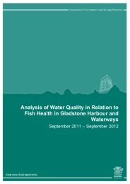 Analysis of Water Quality in Relation to Fish Health in Gladstone ...
