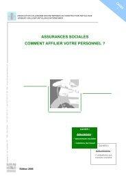 assurances sociales comment affilier votre personnel - Association ...