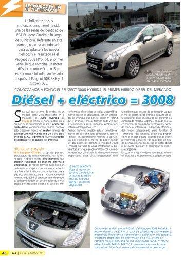Diésel + eléctrico = 3008 - Mundo Recambio y Taller
