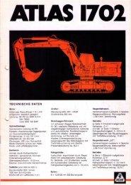 Technische Daten Prospekt AB 1702 von 1975 - ATLAS ...