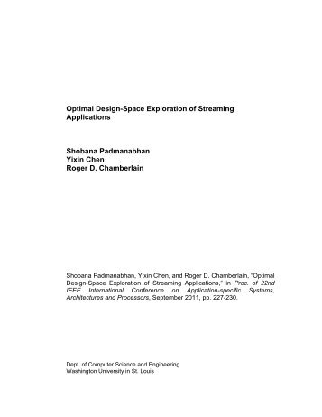 Optimal Design-Space Exploration of Streaming Applications ...