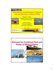 Biomass for Combined Heat and Power at Ethanol Plants