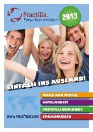 Katalog für Work & Travel, Freiwilligenarbeit, Hotelarbeit ... - PractiGo