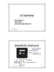 M2 asennus ohje - Oy Combi Cool Ab