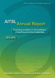 AITSL Annual Report - Australian Institute for Teaching and School ...