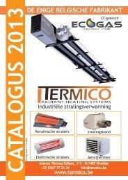 Algemene catalogus stralingsverwarming - Termico
