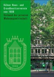 Kölner Haus- und Grundbesitzerverein von 1888 Verband der ...