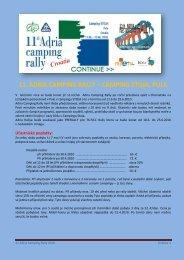 11. adria camping rally – camping stoja, pula - Camping club Rožnov