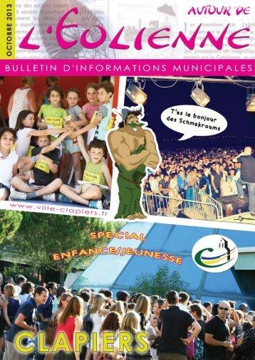 Bulletin municipal Oct 2013 - Mairie de Clapiers