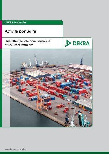 Activité portuaire - DEKRA Industrial