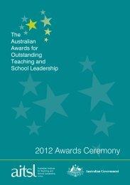 2012 Awards Ceremony Booklet - Australian Institute for Teaching ...