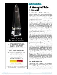 a wrongful Sale Lawsuit - Self Storage Association Globe