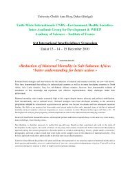 Â«Reduction of Maternal Mortality in Sub-Saharan Africa ... - Amades
