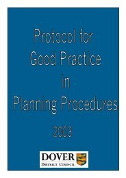 DDC Planning protocol 2003 - Shepherdswell with Coldred Parish ...