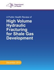 NYS  DOH fracking health report