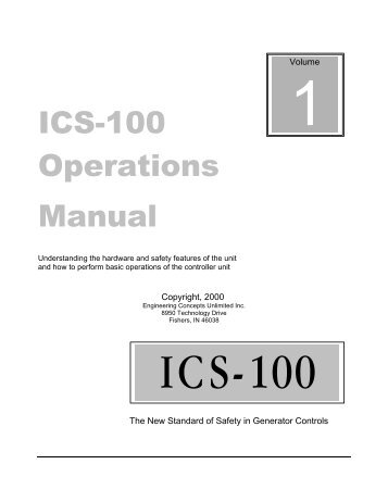 ICS-100 Operations Manual - Engineering Concepts Unlimited