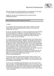 Rede des Bayerischen Ministerpräsidenten Horst Seehofer ... - Bayern
