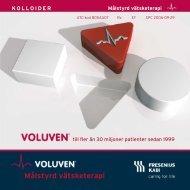 Voluven - Målstyrd vätsketerapi - Fresenius Kabi