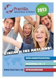 Katalog für Praktika ab 17 und Sprachkurse - PractiGo