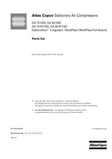 parts list gx2 a gx5 2930 1415 00 03 ul atlas copco rh yumpu com atlas copco parts list pdf atlas copco le 7 parts manual
