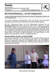 Tennis - SC Worzeldorf