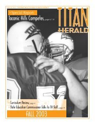 FALL 2003 - Taconic Hills Central School District