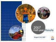 Download the presentation (08/31/2007) (786Kb) - Shareholders ...