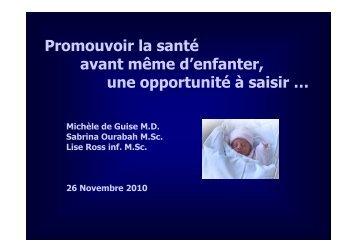 Sabrina Ourabah, Michèle de Guise, Lise Ross - Association pour la ...