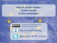 Use of social media / online media in EU campaigns