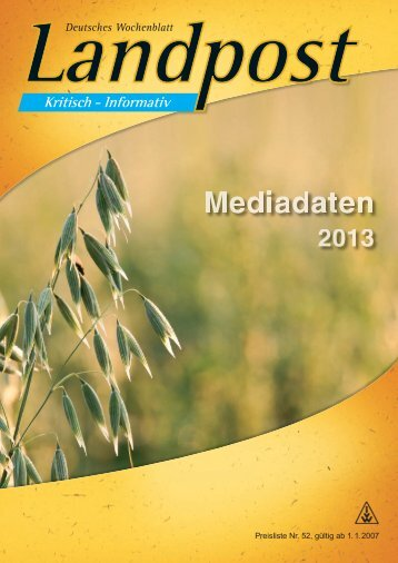 Schwerpunktthemen und Termine 2013 - Dr. Neinhaus Verlag AG
