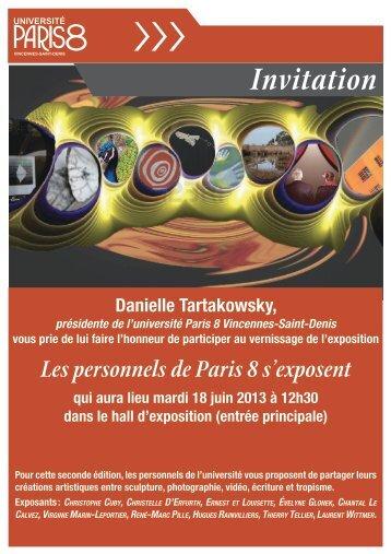 Les personnels de Paris 8 s'exposent - Université Paris 8