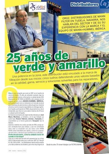 25 años de verde y amarillo - Mundo Recambio y Taller