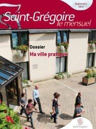 Saint-Grégoire, le Mensuel Septembre 2012