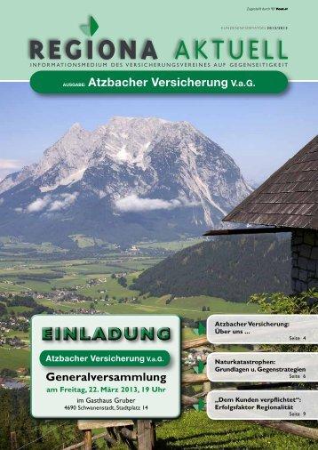stehen zahlreiche Versicherungs - Atzbacher Versicherung VaG