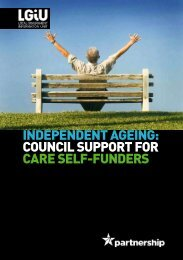 Independent Ageing - council support for care self-funders - LGiU