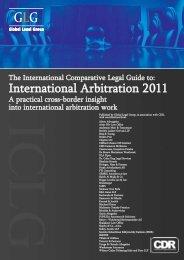 International Arbitration 2011