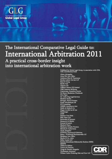International Arbitration 2011