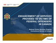 ENHANCEMENT OF SERVICES PROVIDED TO VICTIMS OF ...