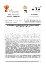 Colloque Amades 2012 - Santé - Sécurité au Travail dans les ...